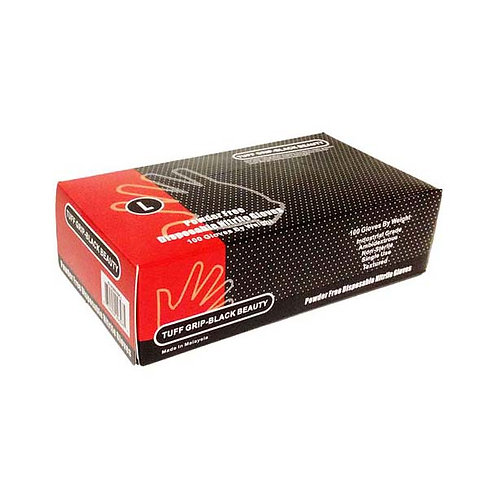 Black Nitrile Industrial Grade Powder Free 43-20WN-BK