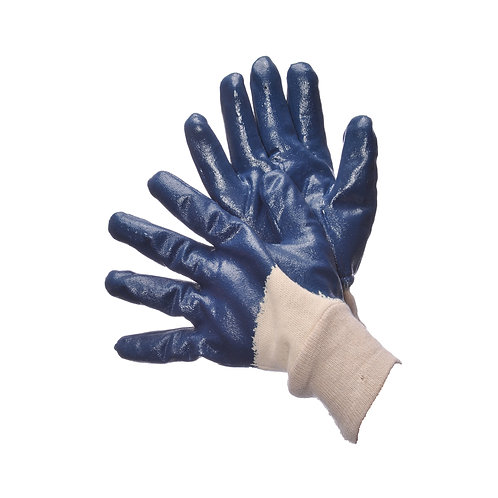 Fully Coated Blue Nitrile with Knit Wrist 96-6120FP
