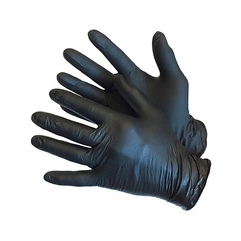 "9"" Black Powder Free Medical Nitrile 43-60MN-BK"