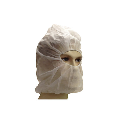 "21"" Beard Cover + Bouffant Hood White PP 00-081021"