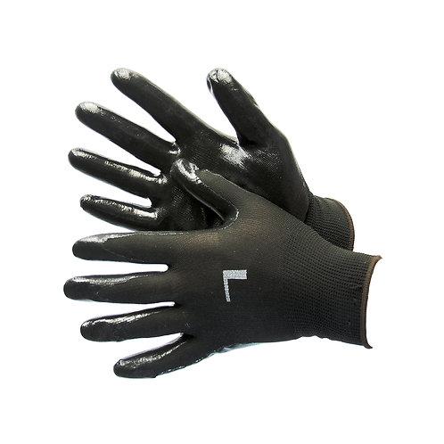 Black Polyester Shell with Black Nitrile Coating 50-8839PBK