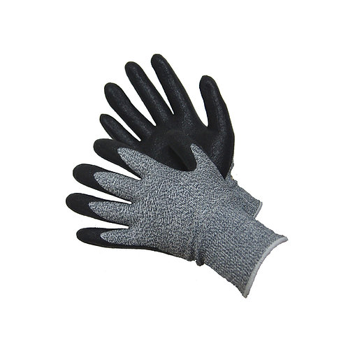 Cut Resistant Glove with Foam NBR Palm Coated 20-5539BK