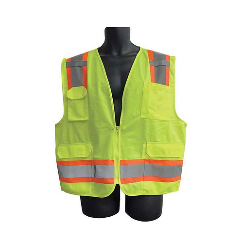 Class II Lime Vest with Pockets 98-2981-G