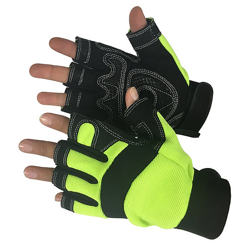 HI VIZ Fingerless Synthetic 33-6003HVG