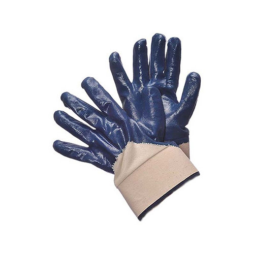 Blue Nitrile Coated with Canvas Cuff 96-6110