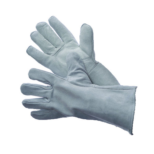 Grey Leather Welding Gloves