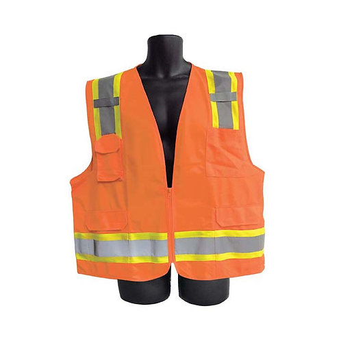 Class II Orange Vest with Pockets 98-2980-O