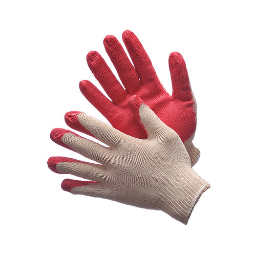 1 Pair Tagged String Knit with Red Latex Coated Palm 50-3500C-2