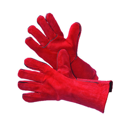 Red Leather Welding Gloves with Kevlar Stitching 31-4016DBKV