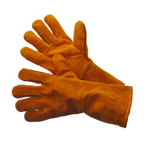 Brown Welding Leather Gloves with Reinforced Thumb 31-4013KV