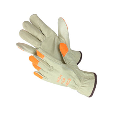 Pig Skin Driver Gloves with HI-VIZ 32-1380HVO