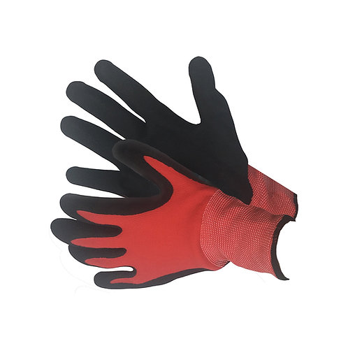 Red Nylon & Spandex Shell with Black Nitrile Coating 50-8836RBK