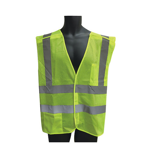 Class II 5 Point Breakaway Lime Mesh Vest 98-2601G