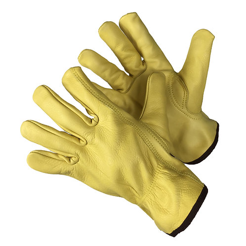 Golden Brown Cow Grain Driver Gloves 32-1383GB