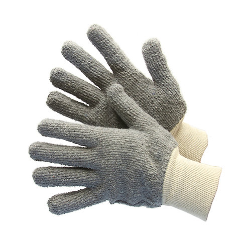 Grey Terry Cloth Gloves  50-1200Q-G