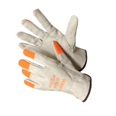 Cow Grain Driver Glove with HI-VIZ 32-1383HVO