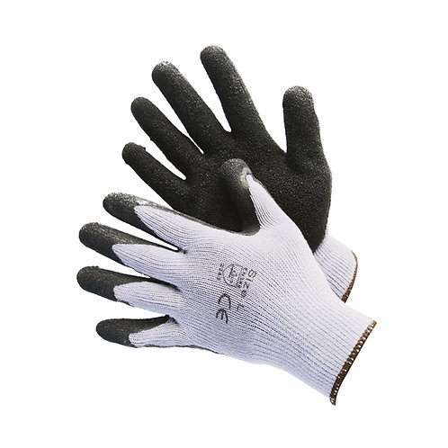 Grey String Knit with Black Latex Coated Palm 50-3242BK