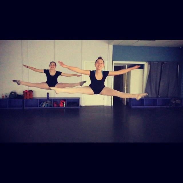 Side leap practice #spotlightdancecompany #hardwork #soar #dancelife #insync