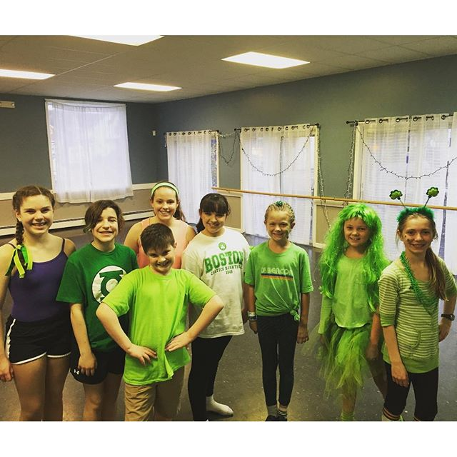 Wear green today at spotlight dance