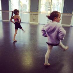 Little ones dancing across the floor #lifeofadancer #tinydancer #spotlightdancemaine #mainekids