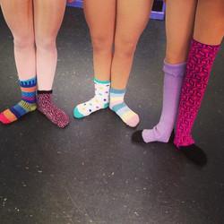 Mix match day #spotlightdancemaine#maine#firstposition#socks#dance#spiritday#balletclass