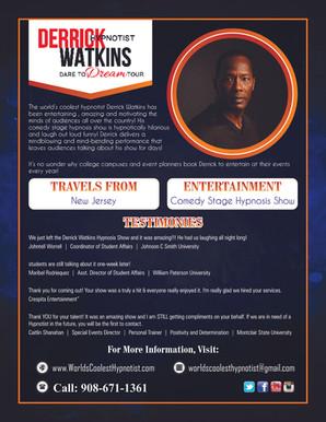 Derrick Watkins flyer
