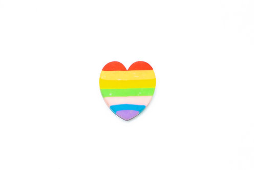 Rubber colored heart