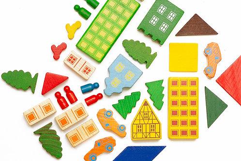 Toy urban collage