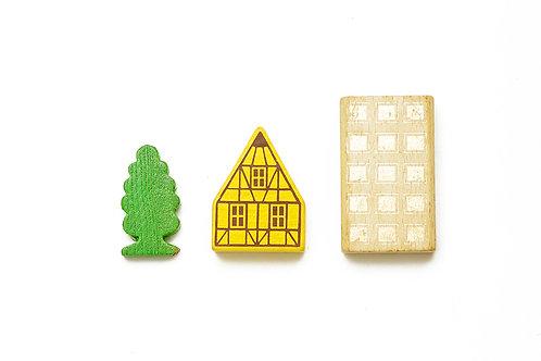 Toy urban cube