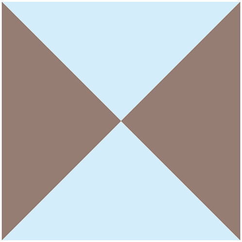 bow tie-pale blue+brown
