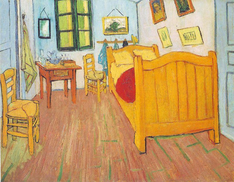 בתמונה החדר של וואנגוך בארל שהיטיב לתאר את האופן שבו הרש משנה את החדר