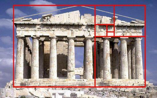 """חזית מקדש הפרתנון באתונה מאה 5 לפנה""""ס באדיבות ויקיפדיה"""