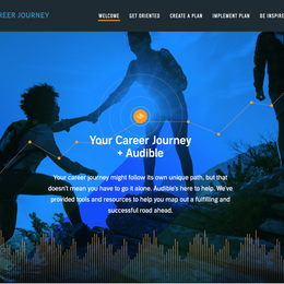 Audible HR Career Journey Website (2019)