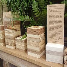 vase bois recyclé