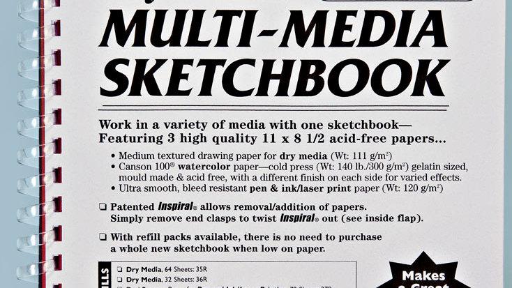 Refillable Multimedia Sketchbook