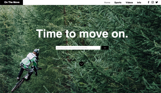 Lifestyle website templates – Extreme Sport Blog