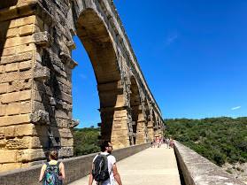 Walking across the Pont du Gard.jpg