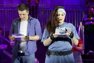 Jonny Painting as Nick & Emily Canham as Lambchops