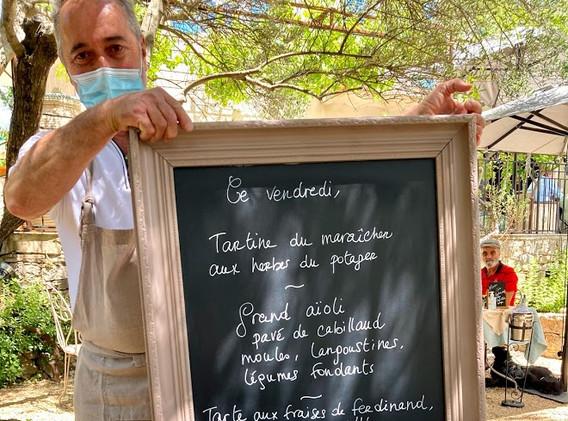 The 48 euros three course menu of the da