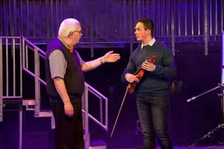 Alan Clarke as Mr. Sheinkopf & Josh Hill as Schlomo