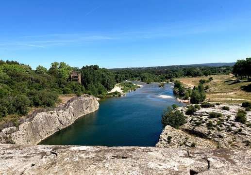 View looking down river from the Pont du Gard.jpg