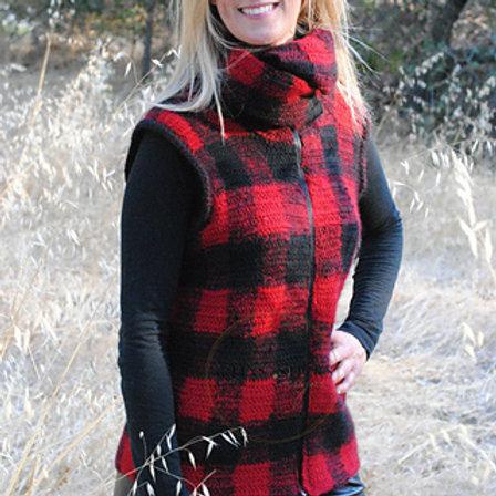 Jackie Lumber Vest - Crochet Pattern