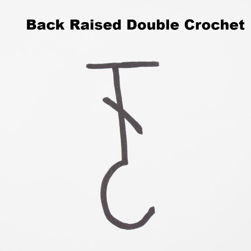 back raised double crochet