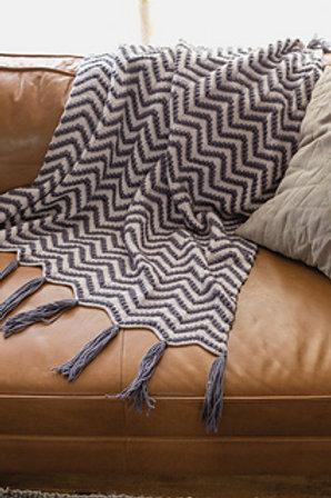 Bungalow Throw Blanket - Crochet Pattern