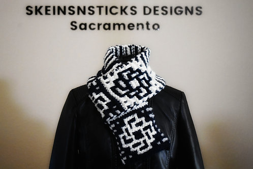 Intertwined Knit Scarf