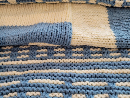 Traveling Knit Afghan Square 3