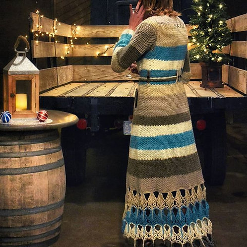 Bridgette Long Sweater Jacket/Duster - Crochet Pattern