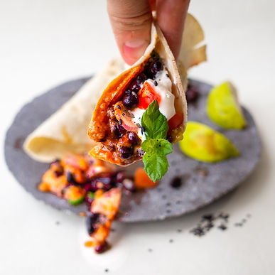 DELICIOUS black bean tacos with 火Hyi Copy