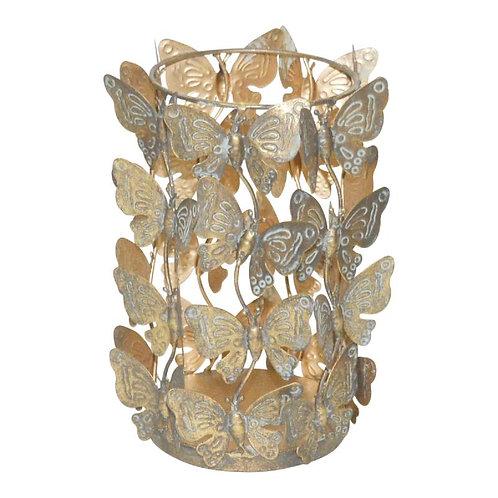 Ptmd tinley goud ijzeren stormlicht vlinders rond