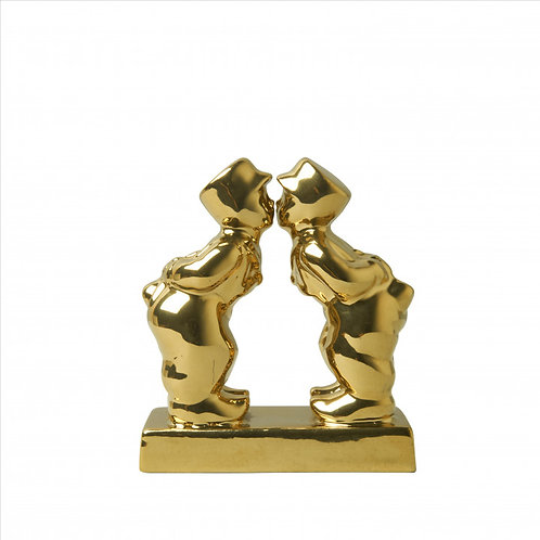 Kuspaar man-man Goud 8 cm